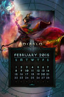 Calendar Mobile #4: February 2015 by Holyknight3000