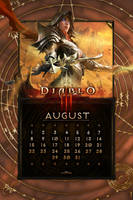 Calendar Mobile #10: Universal August by Holyknight3000