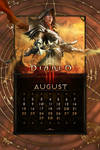 Calendar Mobile #10: Universal August