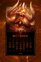 Calendar Mobile #12: Uni October Tamplier's Diablo by Holyknight3000