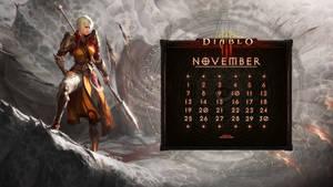 Calendar #29:  Uni November - Monk