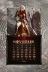Cal. Mobile #25:  Uni November - Monk