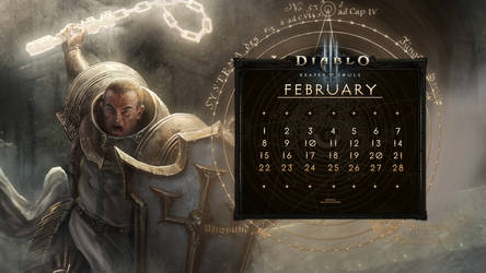 Calendar #32:  Uni February - Cruader by Holyknight3000
