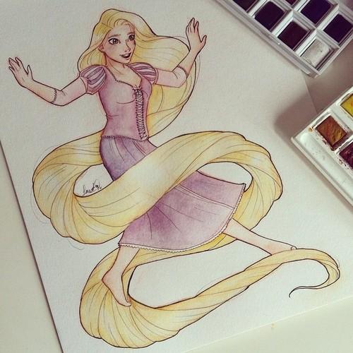 Rapunzel commission by Sandra-13