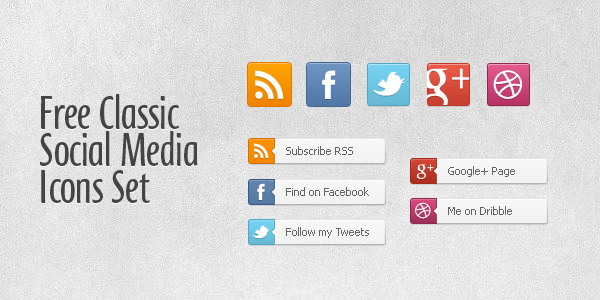 Free Social Media Buttons and Icons by thearslan