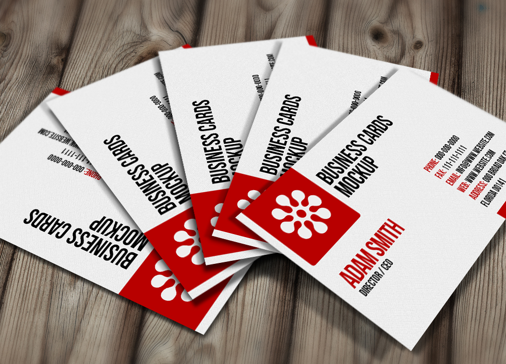 Free PSD: Business Cards Mockup by thearslan
