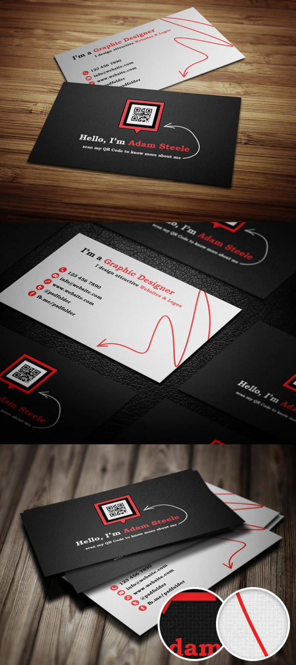 Scan my QR Code Business Cards by thearslan on DeviantArt