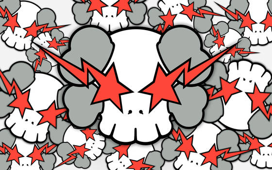 KAWS X Skulls