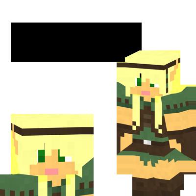 Wood Elf Female Minecraft Skin by Amayanina