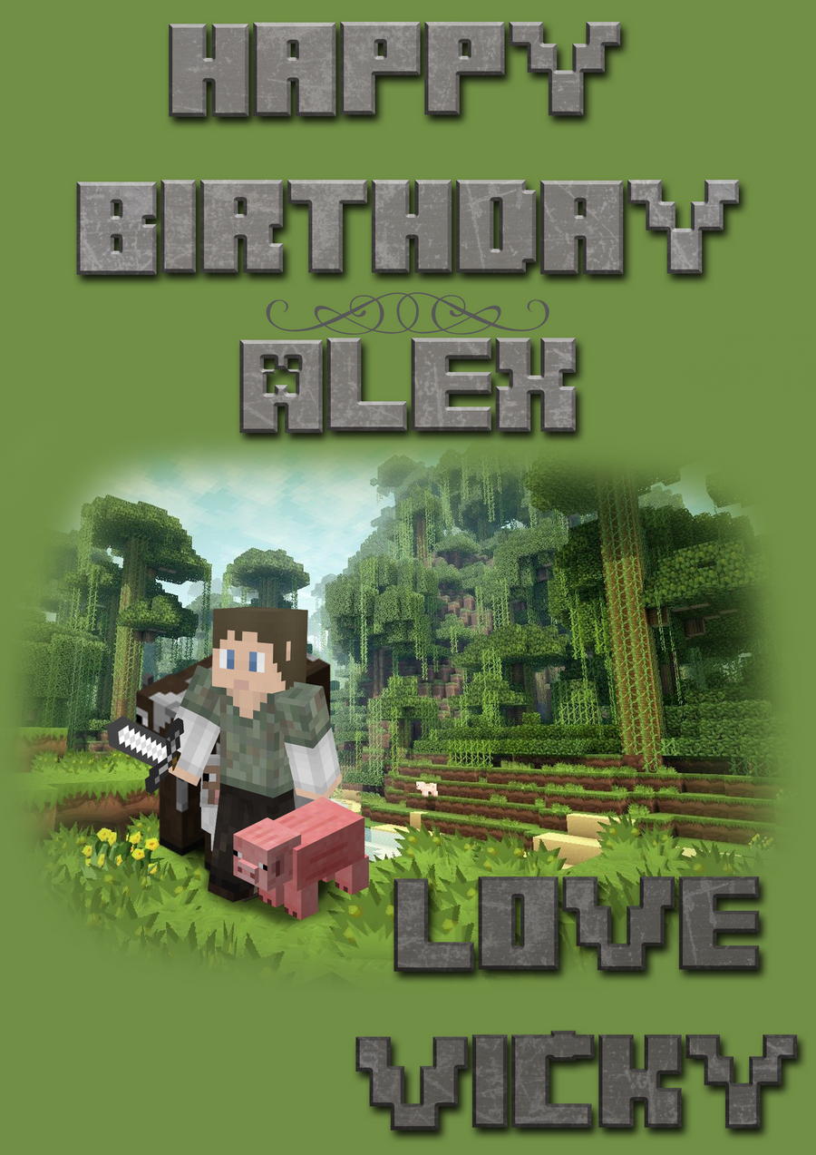 minecraft birthdaycard? by amayanina on deviantart, Birthday card