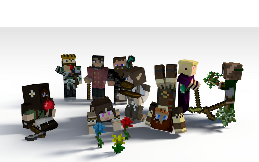 Character Rig Cinema 4D Minecraft
