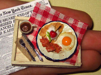 Miniature Breakfast Tray by sonickingscrewdriver