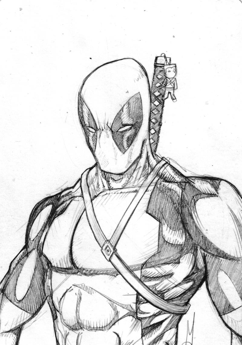 Deadpool Sketch Card by madd-sketch on DeviantArtDeadpool Sketch