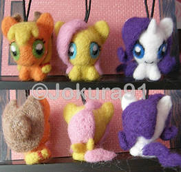 My Little Pony_Needle felted key chains (1)