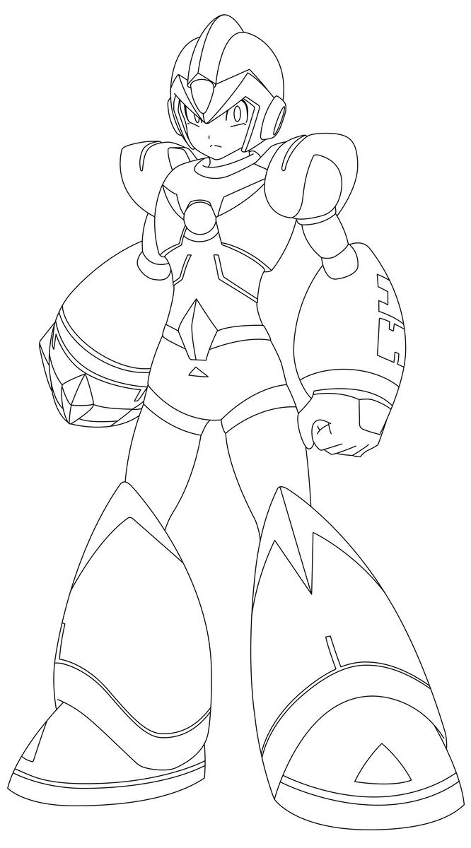 Kleurplaat Shadow Smash Brosh X Megaman Sound Holic Armor