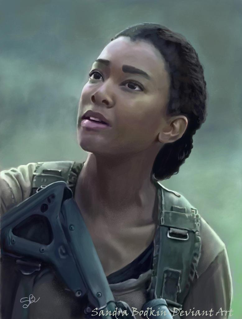 Sasha (Sonequa Martin-Green) TWD - Season 6 by Gael9