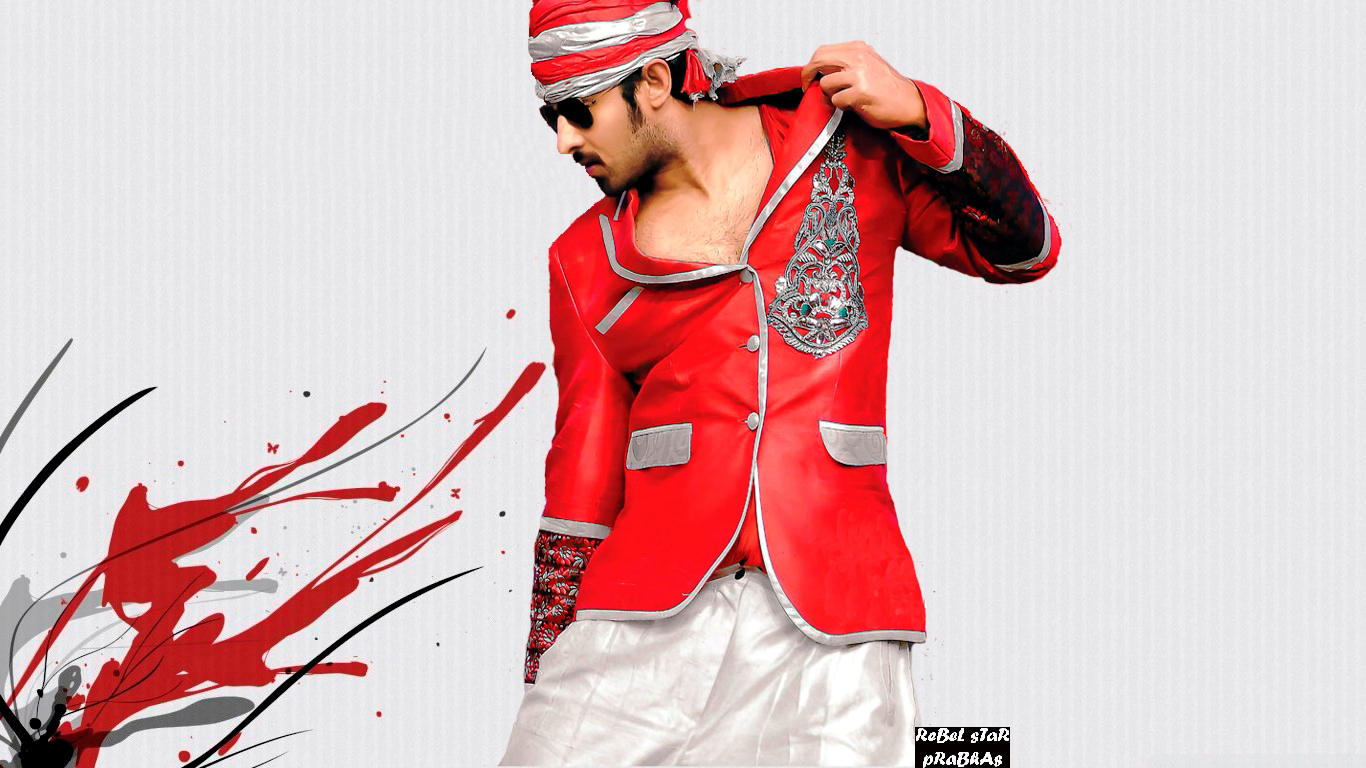 Stylish Prabhas Hq Wallpaper In Rebel: Prabhas Rebel Widescreen Wallpaper