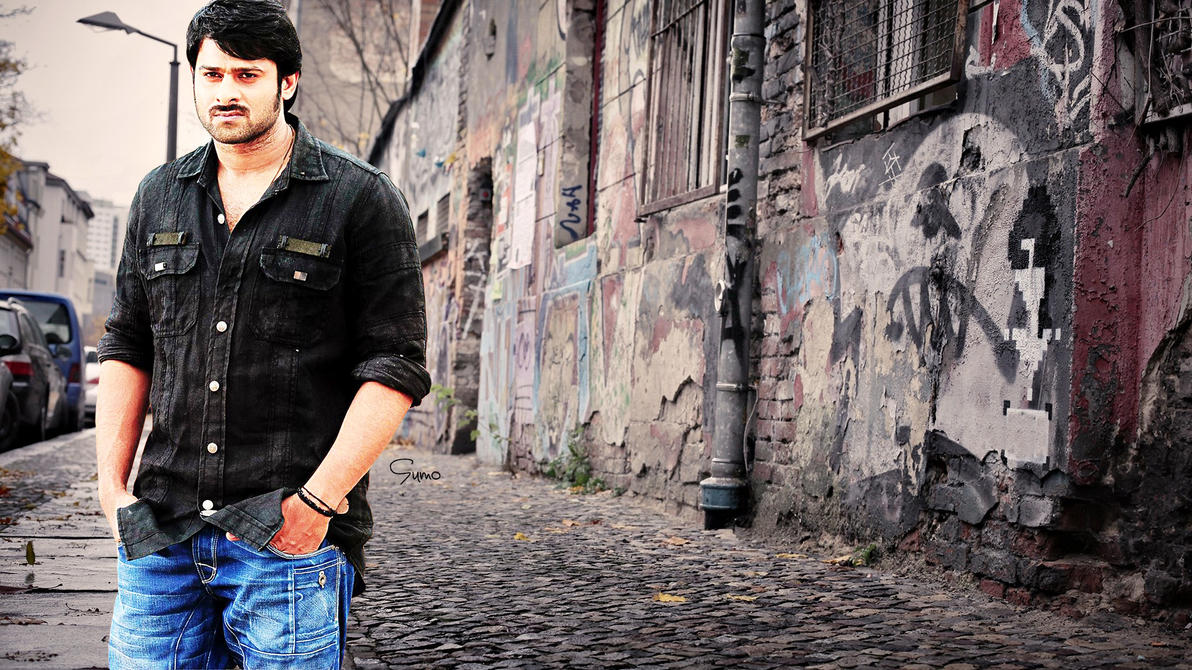 Prabhas Mirchi Wallpapers In Black Shirt Traffic Club