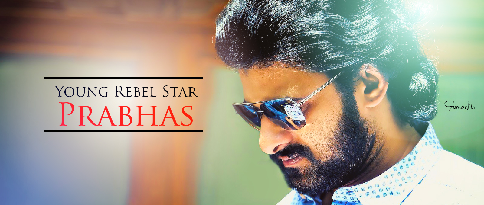 Young Rebel Star Prabhas Raju Wallpapers: Prabhas Latest Macho Look At His Home