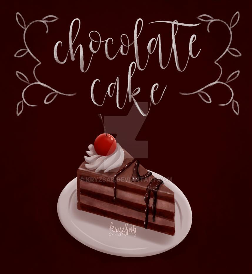 Chocolate cake by kryzsab