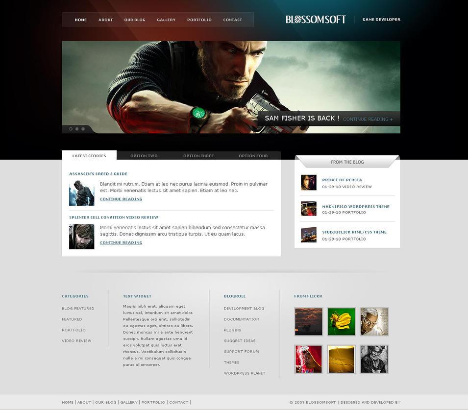 Blossomsoft Wordpress by ddwebstudios