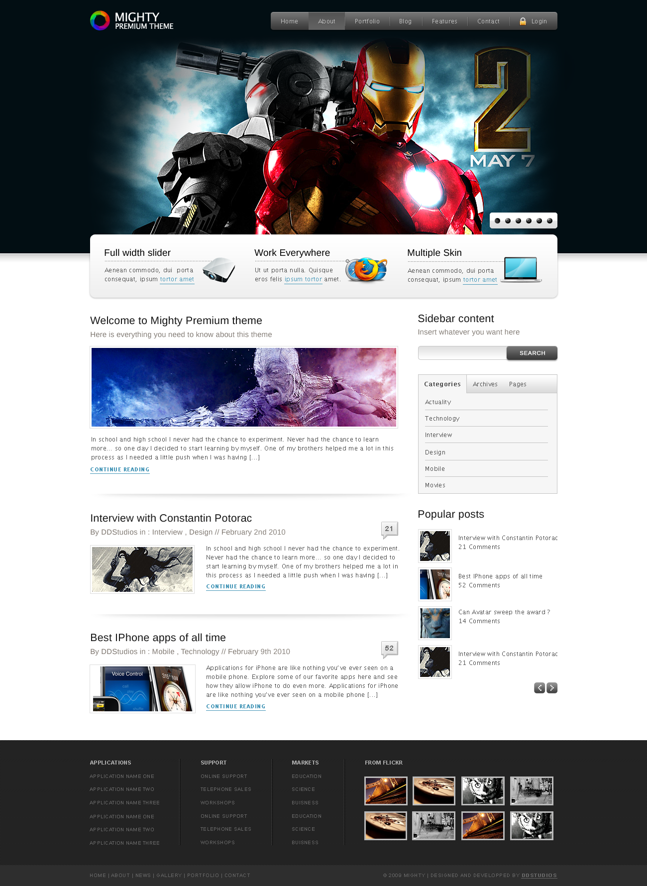 Mighty HTML Theme by ddwebstudios