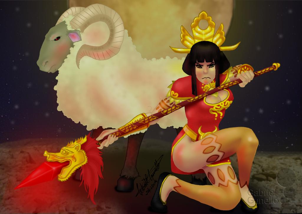 Lunar New Year Awilix 2015 by gabrielcrypto