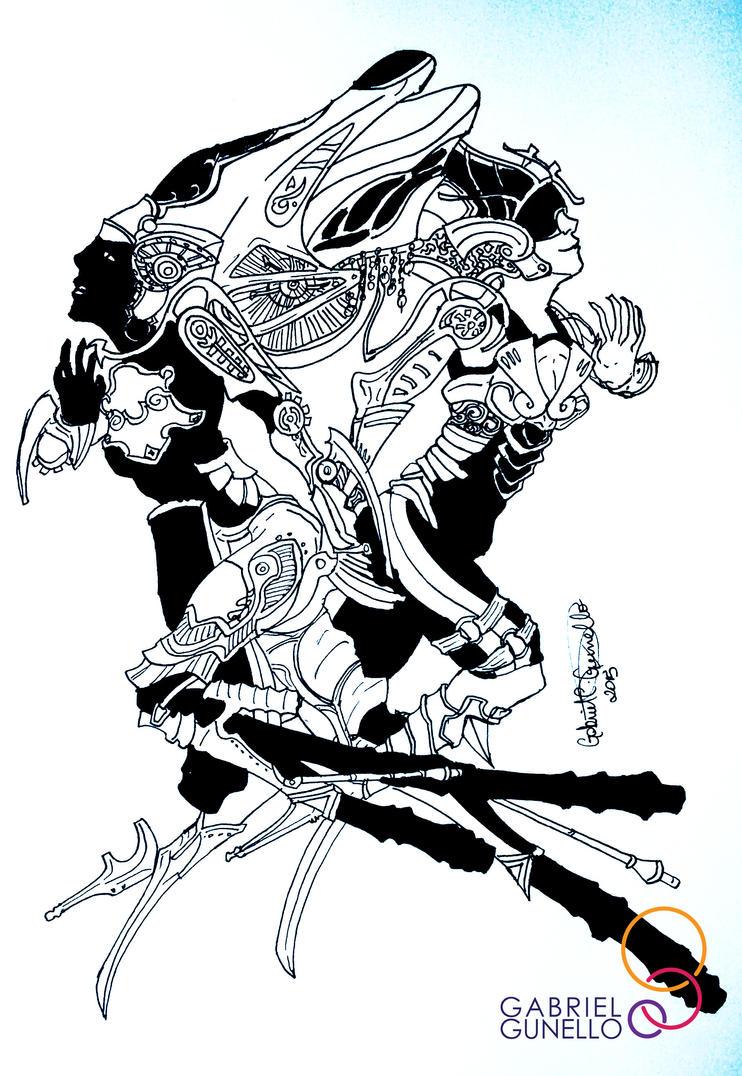 Shiva, Final Fantasy XIII by gabrielcrypto
