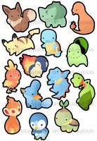 Pokemon Starters by Blueyblob