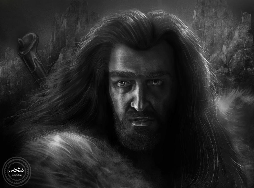 Thorin black and white by dividedmind