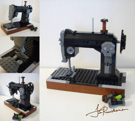 Morticia's Sewing Machine by Fragile-yet-CunNINg