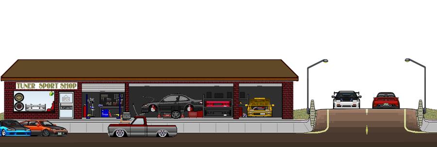 My ej1 pixelcar art garage by krax78 on deviantart for Garage pixel auto metz