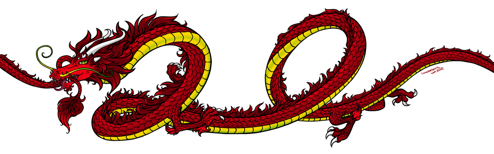 Dragon Tattoo Design by Lunasumerin