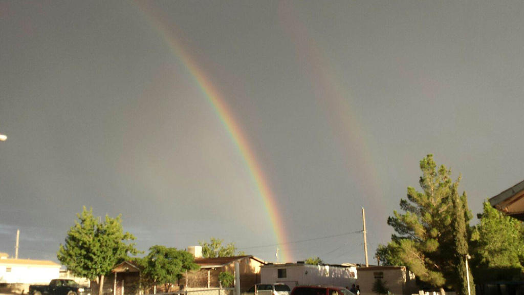Double Rainbow All The Way Across The Sky by Mika-Itami