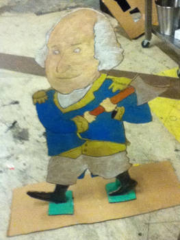 Giant cardboard George Washington