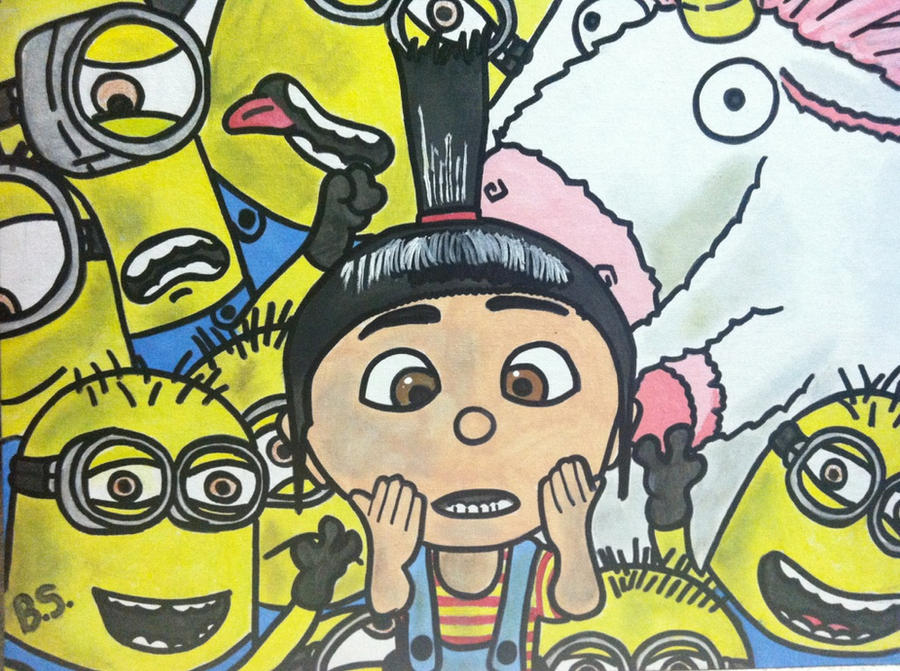 Agnes Unicorn Minions From   Despicable Me Unicorn Drawing