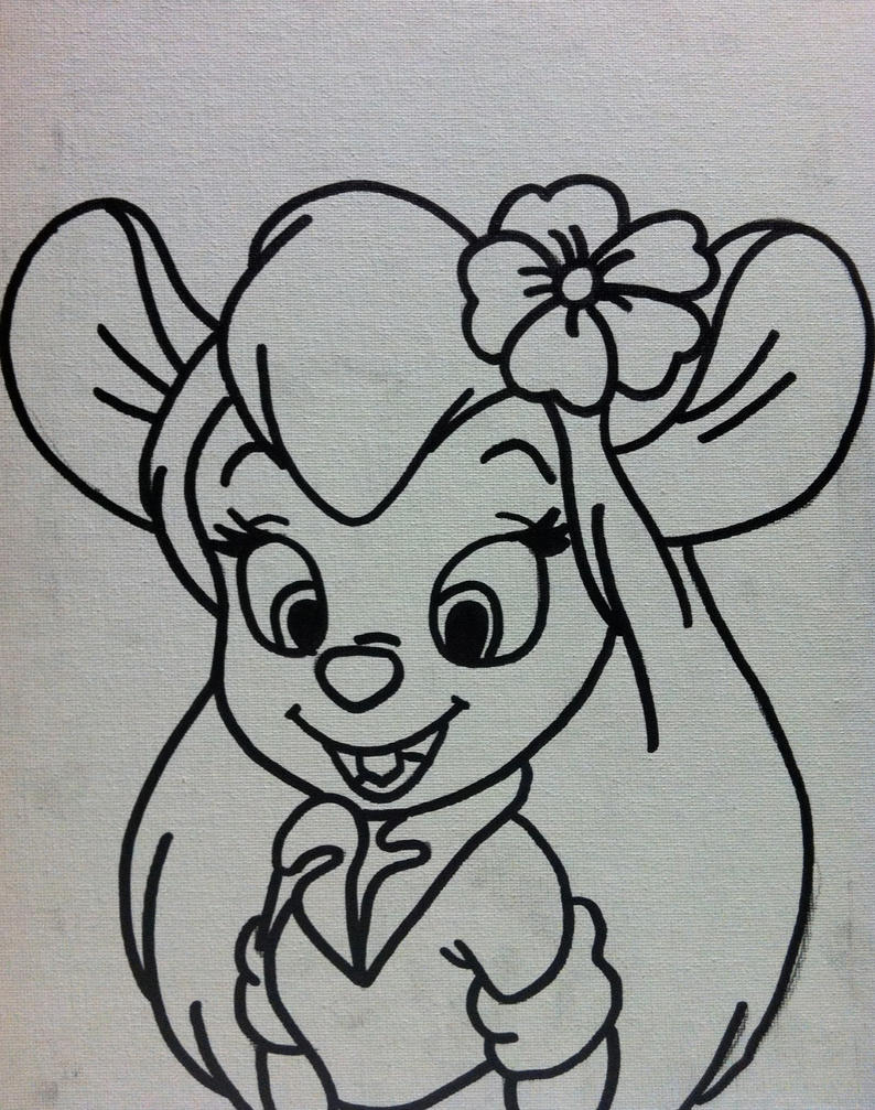 chip n dale coloring pages - gadget chip n dale rescue rangers by sampson1721 on deviantart