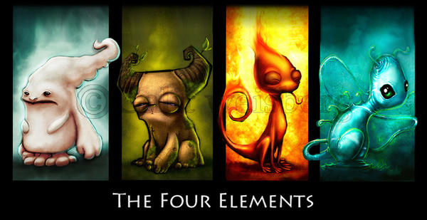 Four Elements Art : Elements by shoze on deviantart