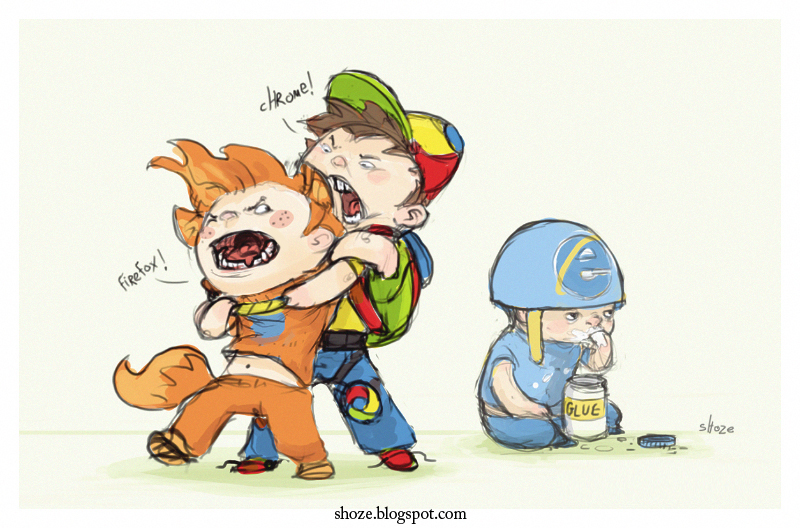 browser wars by shoze