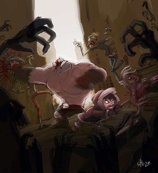 mika balto fighting zombies by shoze
