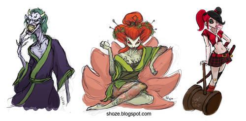 batman villains with Japanese twist