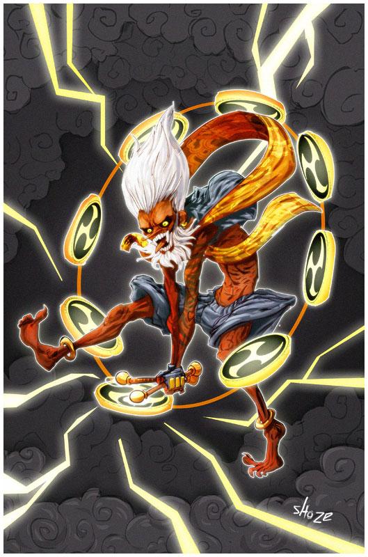 battle artist 13 - Raijin by shoze