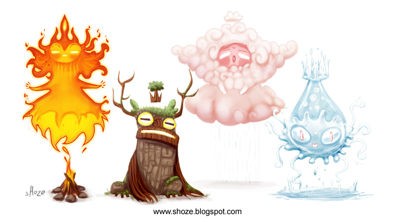 Elemental Creatures By Shoze On Deviantart