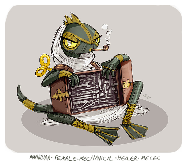 DH - amphibian mech healer by shoze