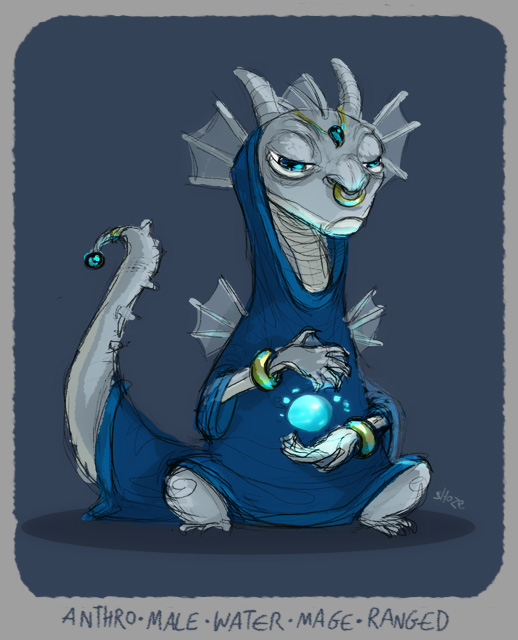 DH - water dragon mage by shoze