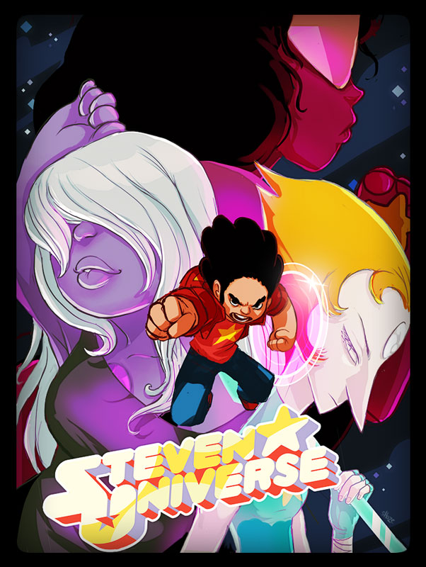 for Steven Universe is bad-ass as-is but i gave it a bit of a testosterone shot. this was a difficult image but the good kind of difficult. glad i saw it through