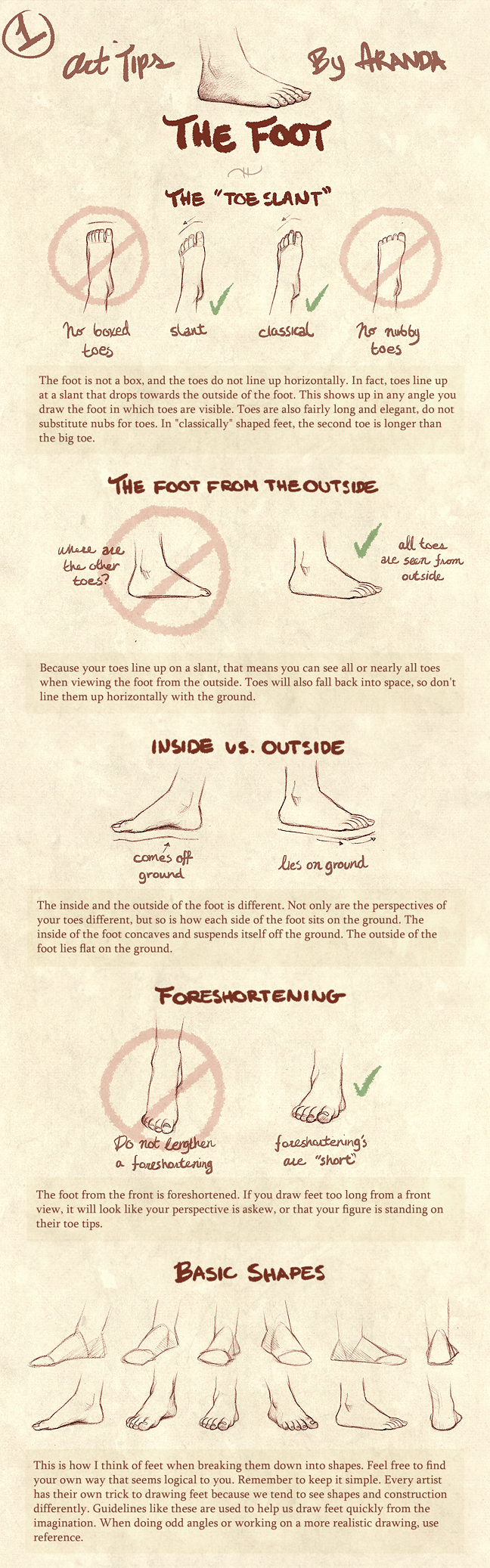 Art Tips - The Foot by ArandaDill