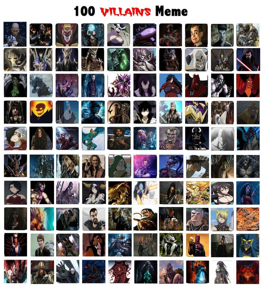 My Top 100 Favorite Villains By JackSkellington416 On