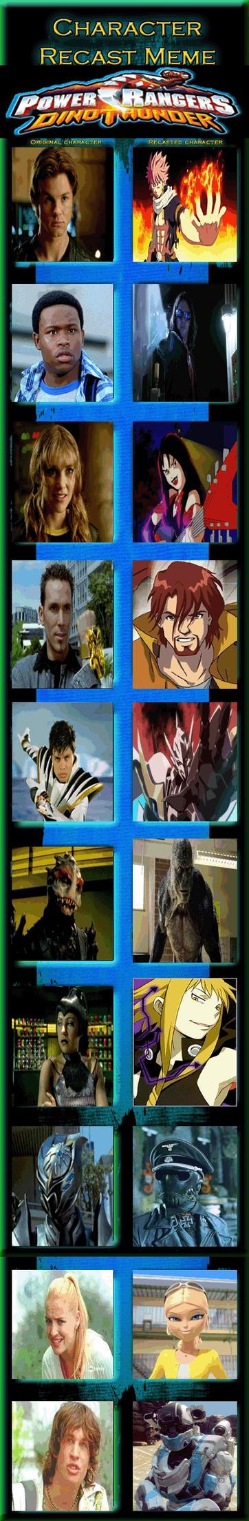Power Rangers: Dino Thunder Recast by JackSkellington416