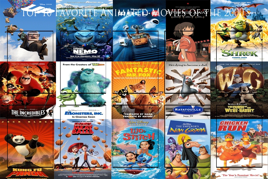 Top 10 Animated Movies of the 2000's Meme by